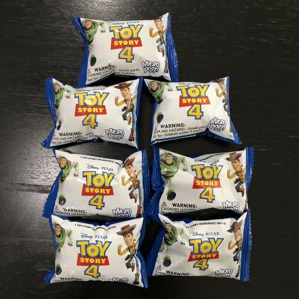 Toy Story 4 MicroPopz! Lot Of 7 Blind Bags Micro Popz