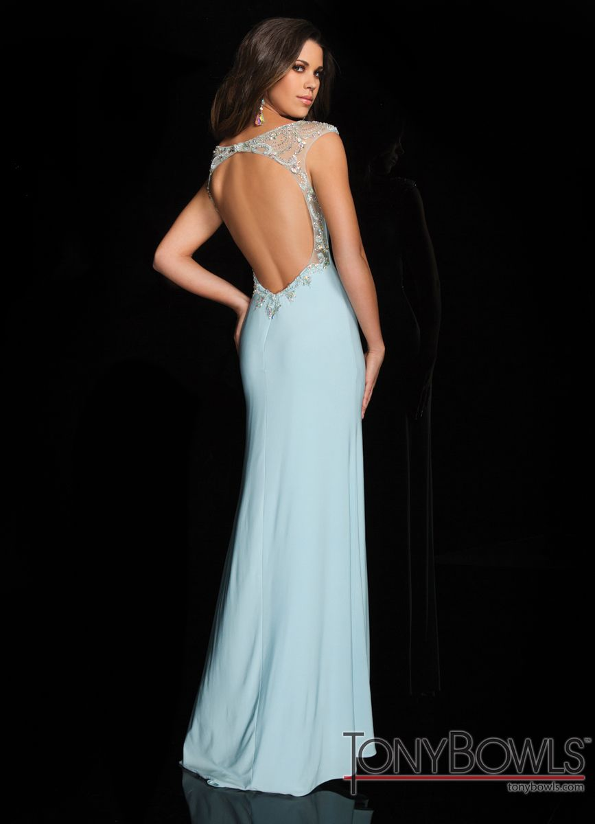 Tony Bowls Open Back Gown 114537