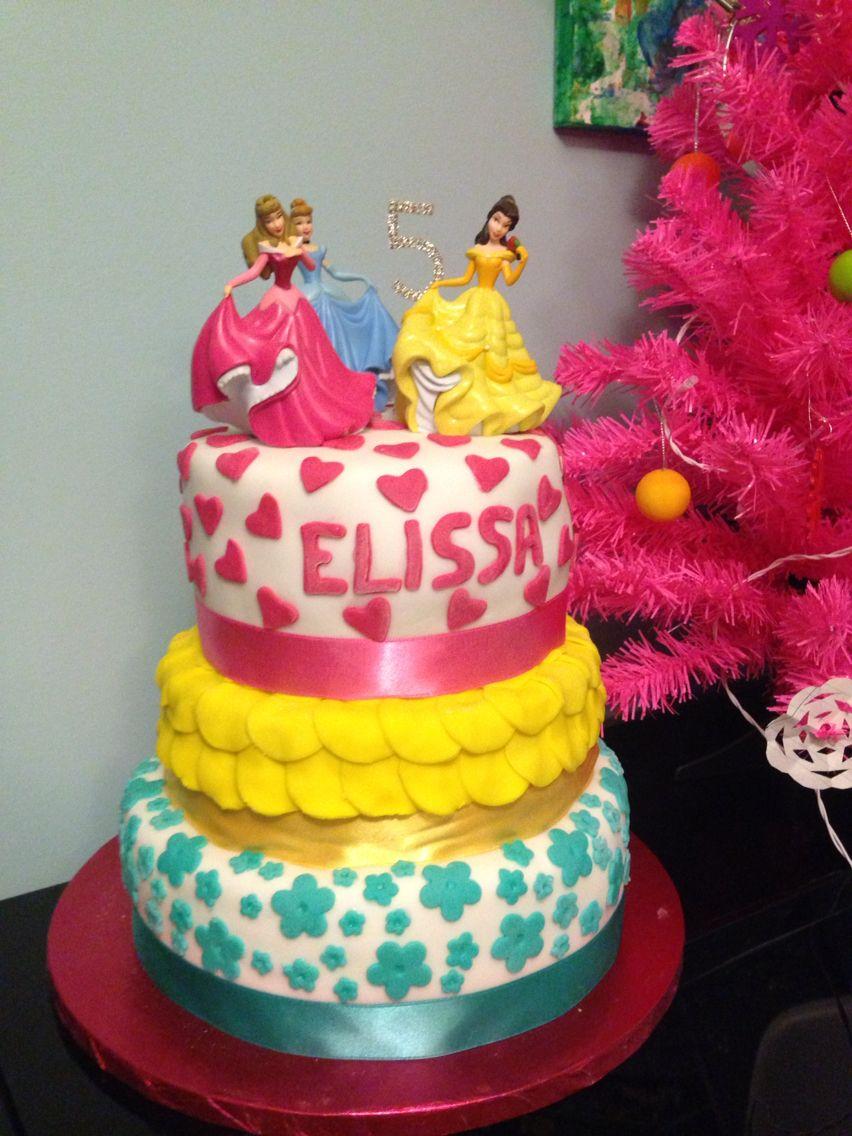 Daughters 5th birthday princess cake princess cake cake