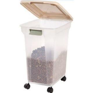 Iris 55 Qt Airtight Pet Food Container Black Pet Food Storage