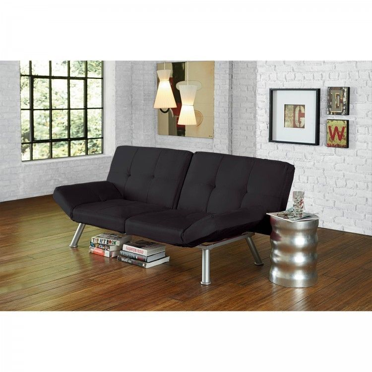 #angelsculture Futon Sofa Bed Lounger Modern Stylish Easy Open Close Livin  Office Sleeper Black #