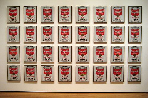 Nyc Moma Andy Warhol S Campbell S Soup Cans Campbell S Soup Cans Andy Warhol Soup Cans Andy Warhol Art