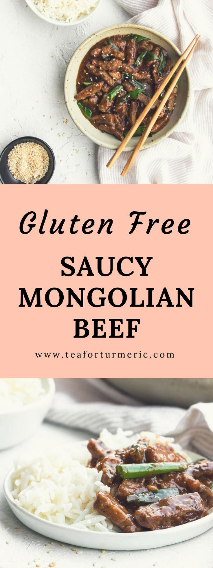 Saucy Mongolian Beef (GlutenFree) + Saveur Blog Award