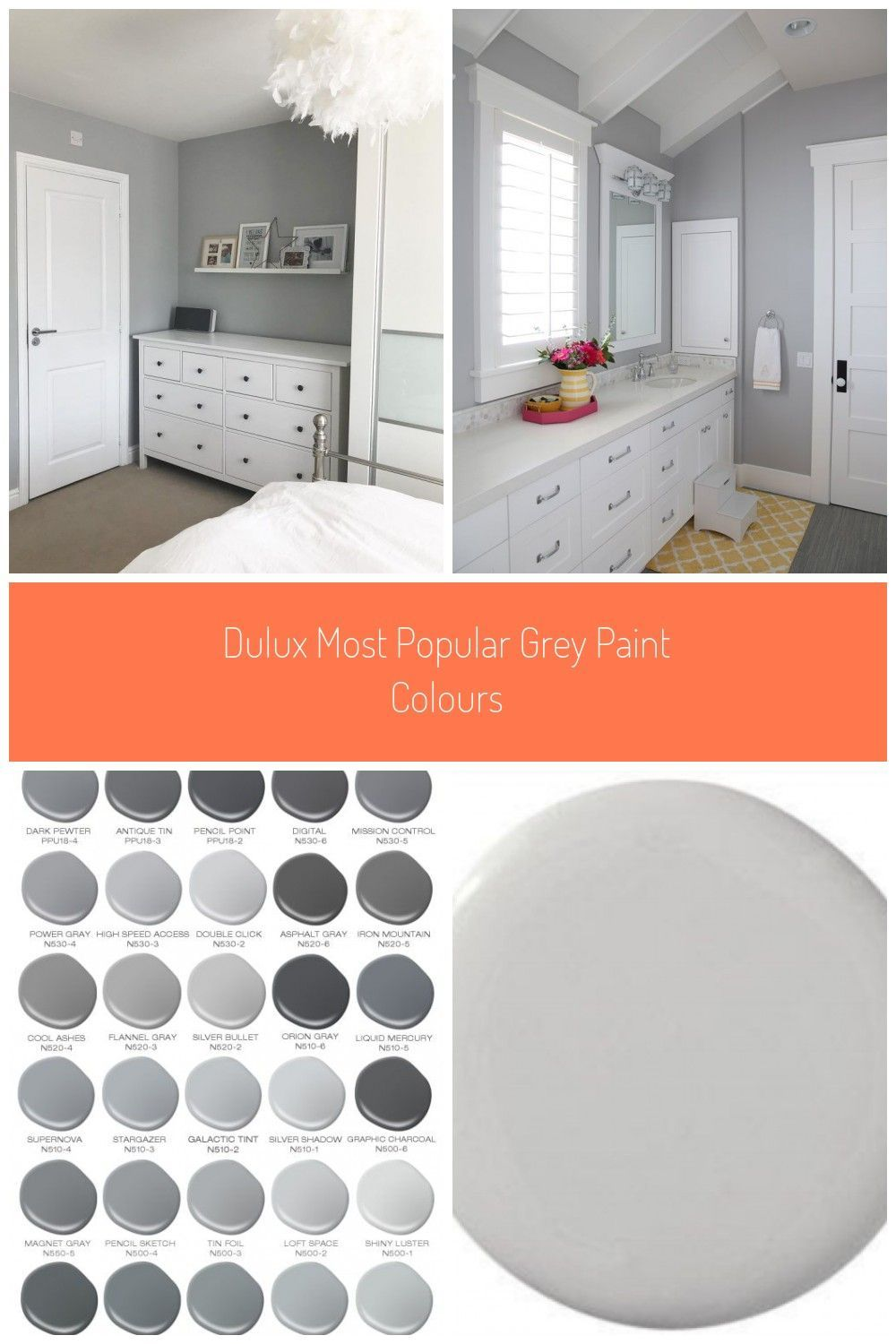 Light Grey Wall Paint Dulux In 2020 Gray Painted Walls Bedroom Paint Colors Grey Popular Grey Paint Colors