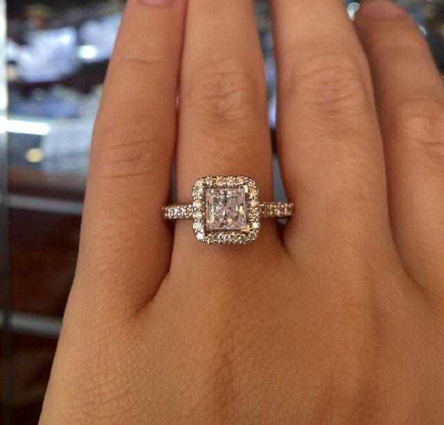 Top 10 Princess Cut Engagement Rings Princess Cut Halo