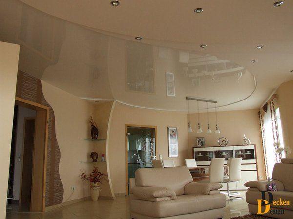 Inspirational Spanndecken im Wohnzimmer