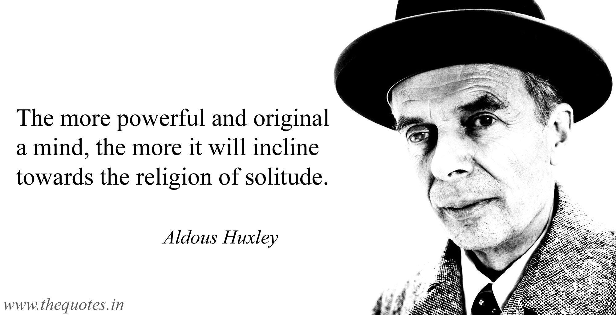 aldous huxley influences