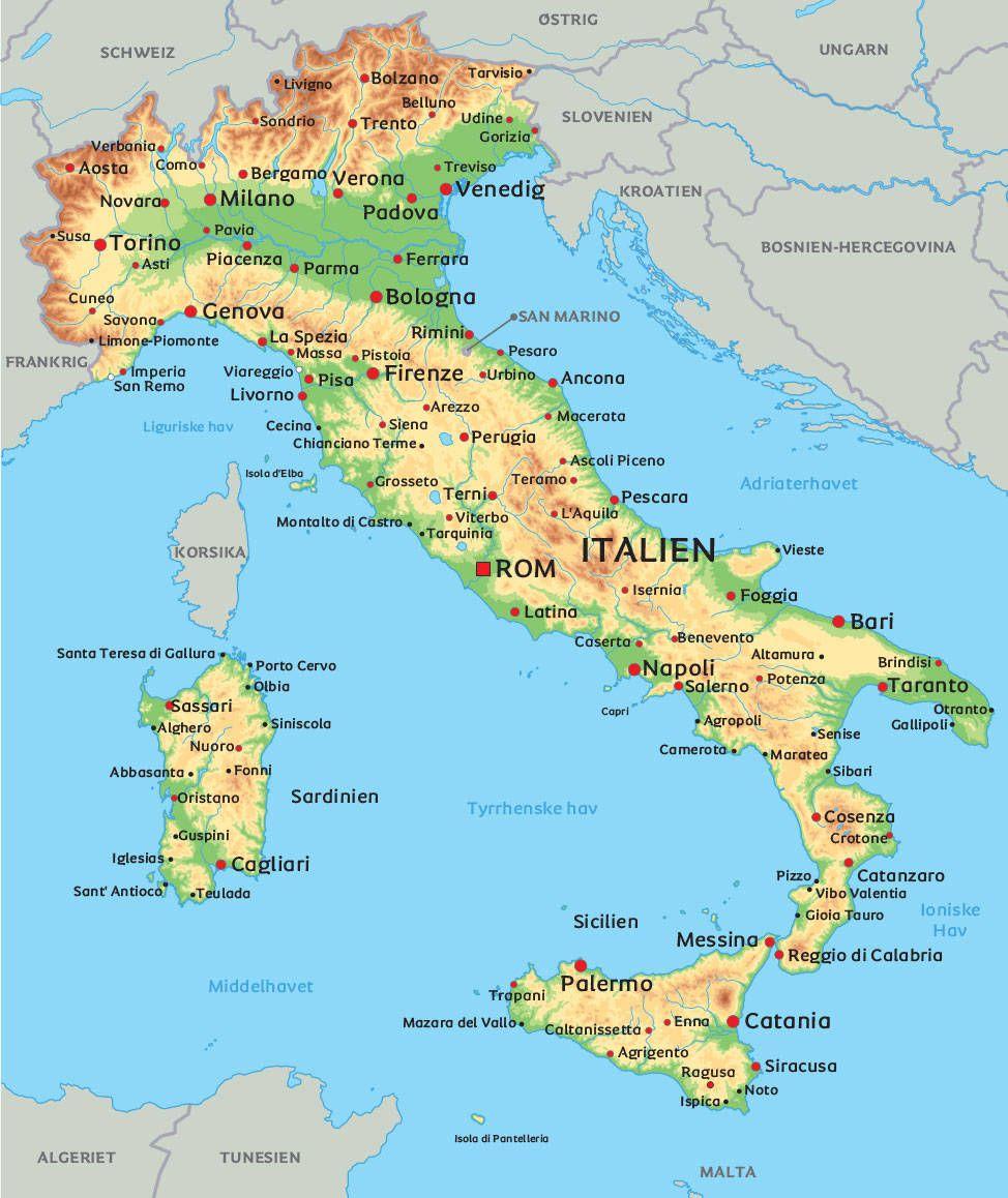 Det Pragtfulde Norditalien Verona Kort Gardasoen