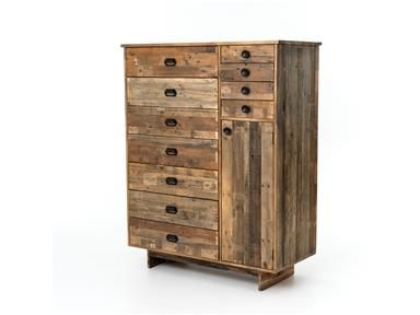 Shop for Four Hands Bishop Chest, VFH-005, and other Bedroom Chests and Dressers Combining the rustic charm of natural wood with contemporary designs, Sierra celebrates the rugged beauty of snow-capped mountains and clear alpine lakes with high-style furnishings that give new life to salvaged wood.