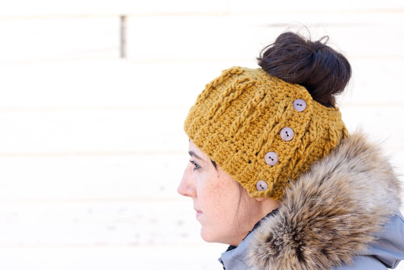 Free Crochet Hat Pattern With Ponytail Hole Custom Inspiration Ideas