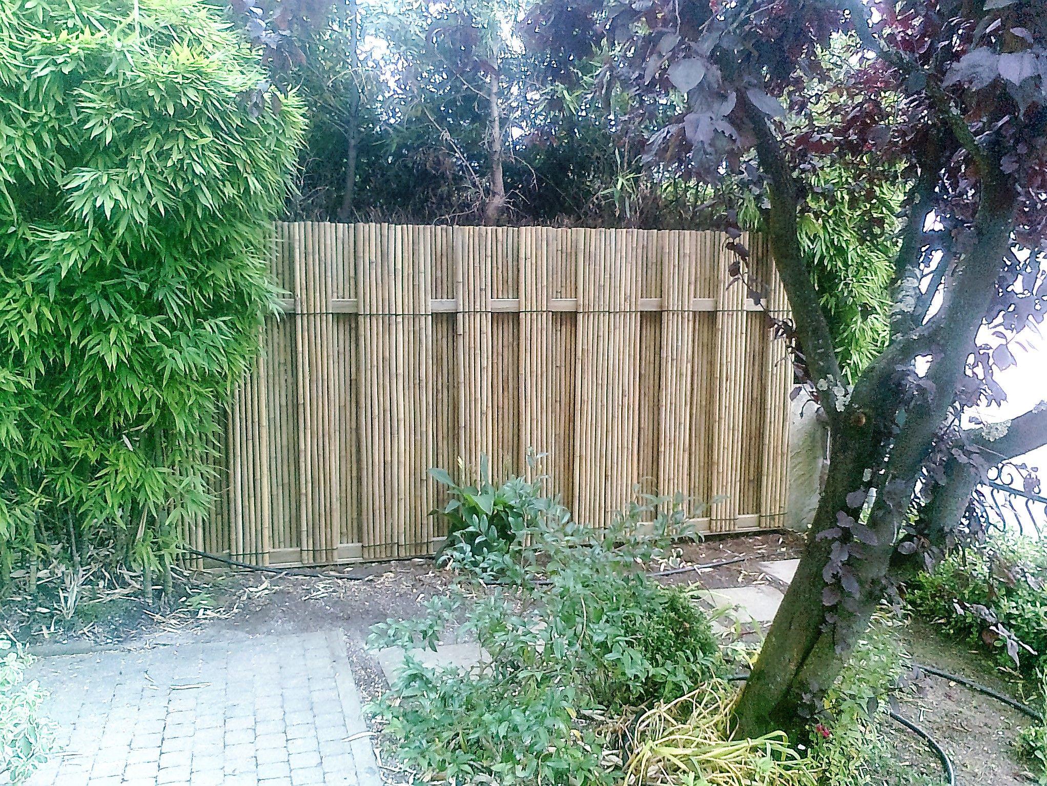 Brise Vue Jardin Japonais panneau en bambou pour jardin contemporain, zen ou japonais