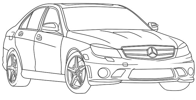 Coloriage voiture de luxe courage gar on pinterest - Coloriage de garcon ...