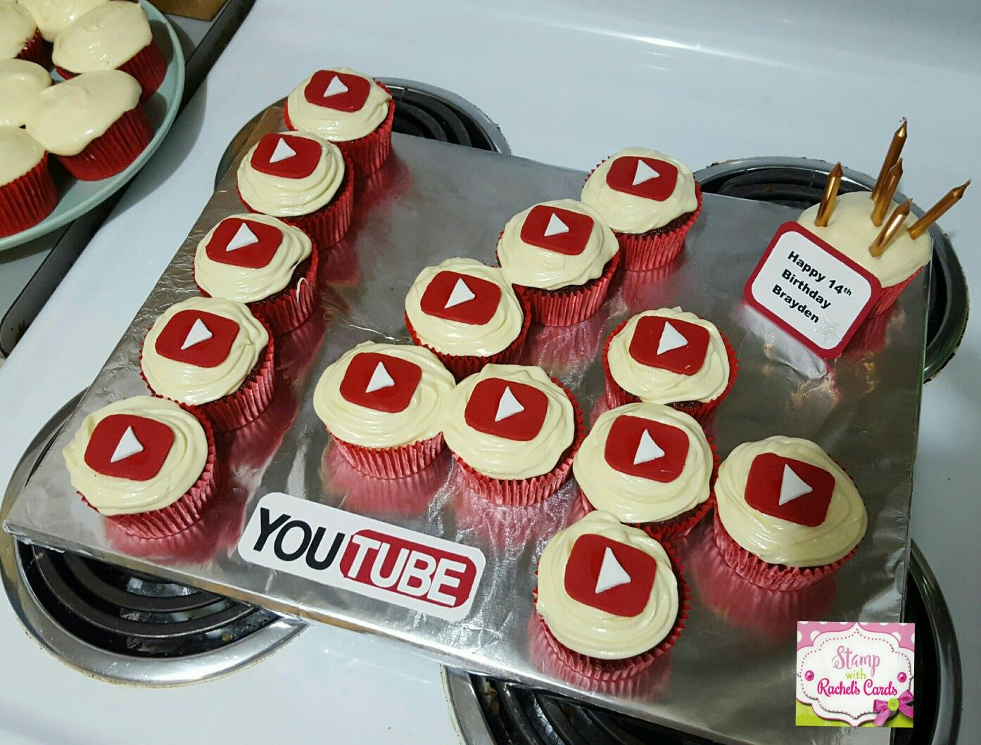 The 14th Birthday Cake I Made For My You Tube Obsessed Son For His