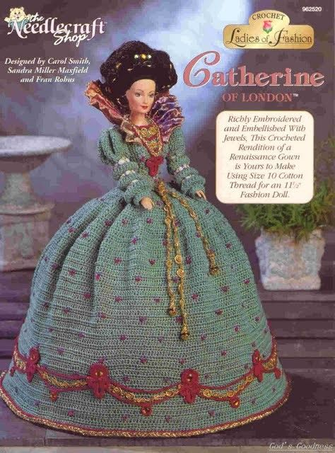 Barbie Crochet, Catherine Of London, | Barbiekleider | Pinterest ...