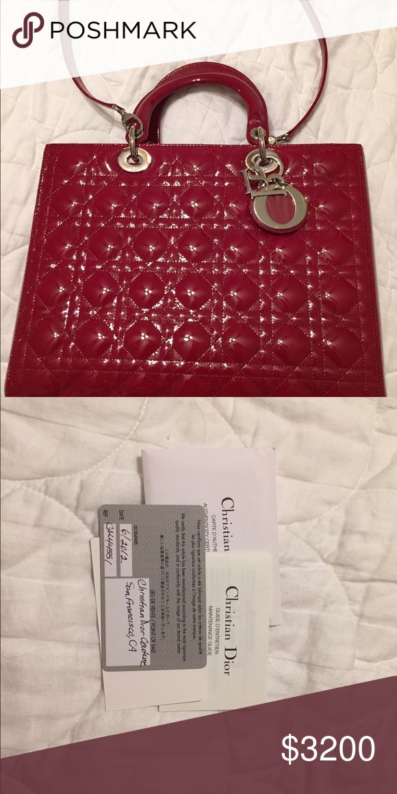 16de1f5661 lady dior bag guaranteed authentic, new condition, size large, it's come  with authenticity card, no trade, Dior Bags Totes