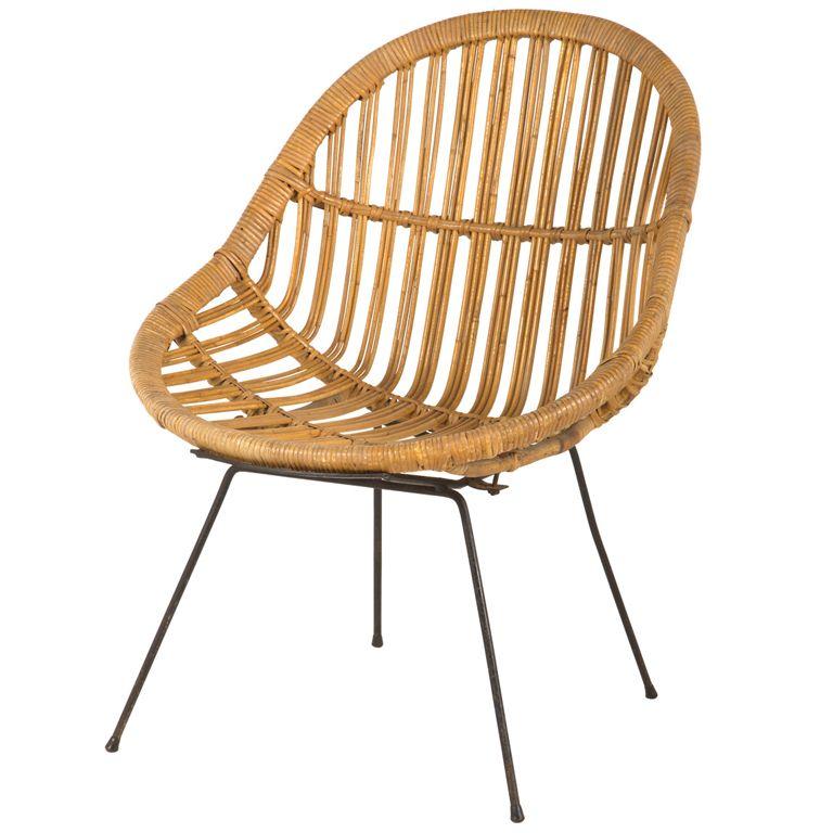 Vintage Rattan Chair Nice Look