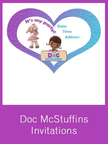 Doc McStuffins Invitation FREE PDF Download Things for Macie
