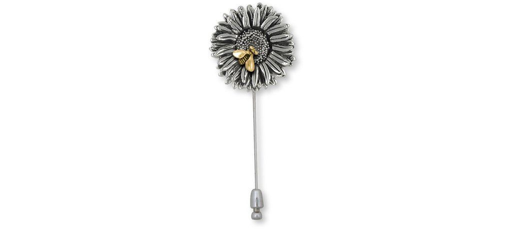 Aster Jewelry Silver And 14k Gold Handmade Aster Flower Brooch Pin Ast2 Beestp In 2020 Jewelry Flower Jewellery Silver Jewelry