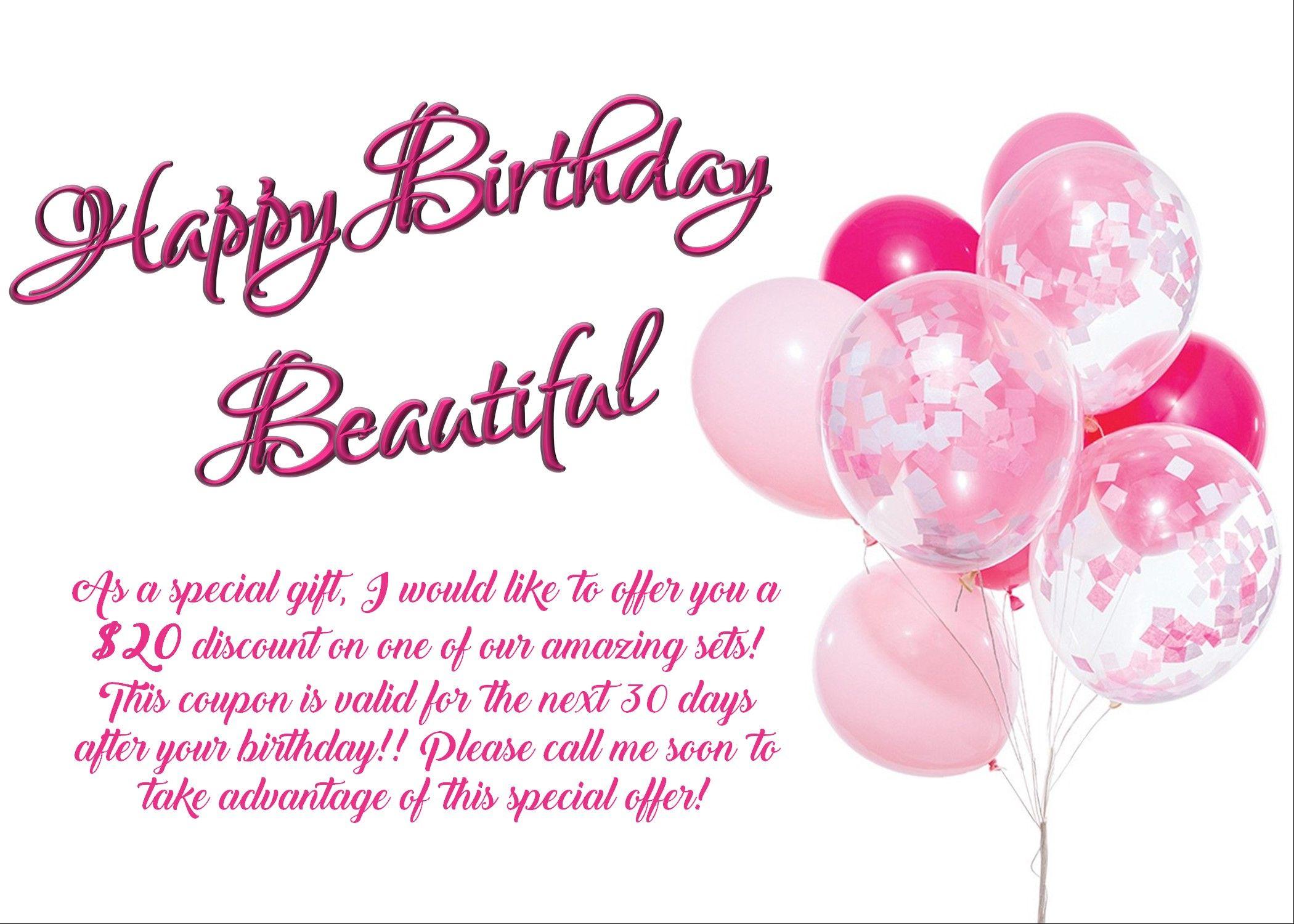 Mary kay happy birthday coupongift certificate happy
