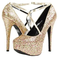Lollipop23 Glitter Hidden Plaform Pump GOLD  Our Price: $ 55.00