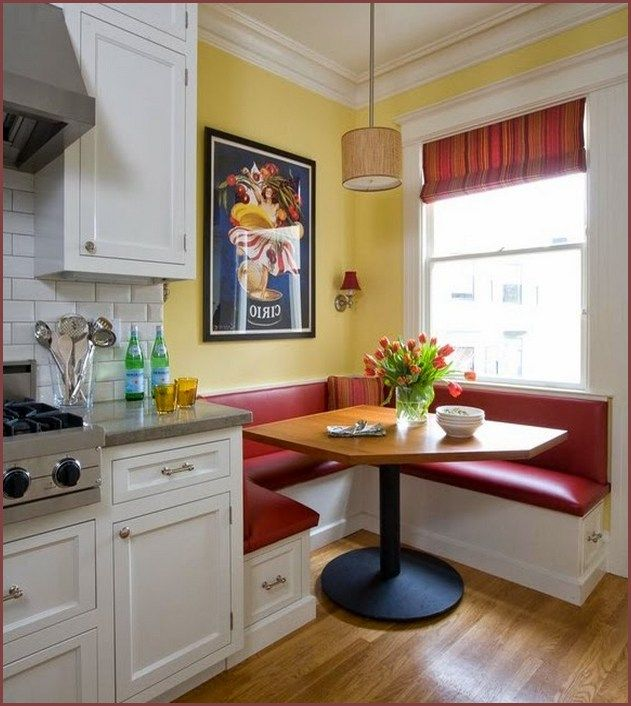 Kitchen Booth Design Ideas ~ Corner booth kitchen table … remodel pinte…