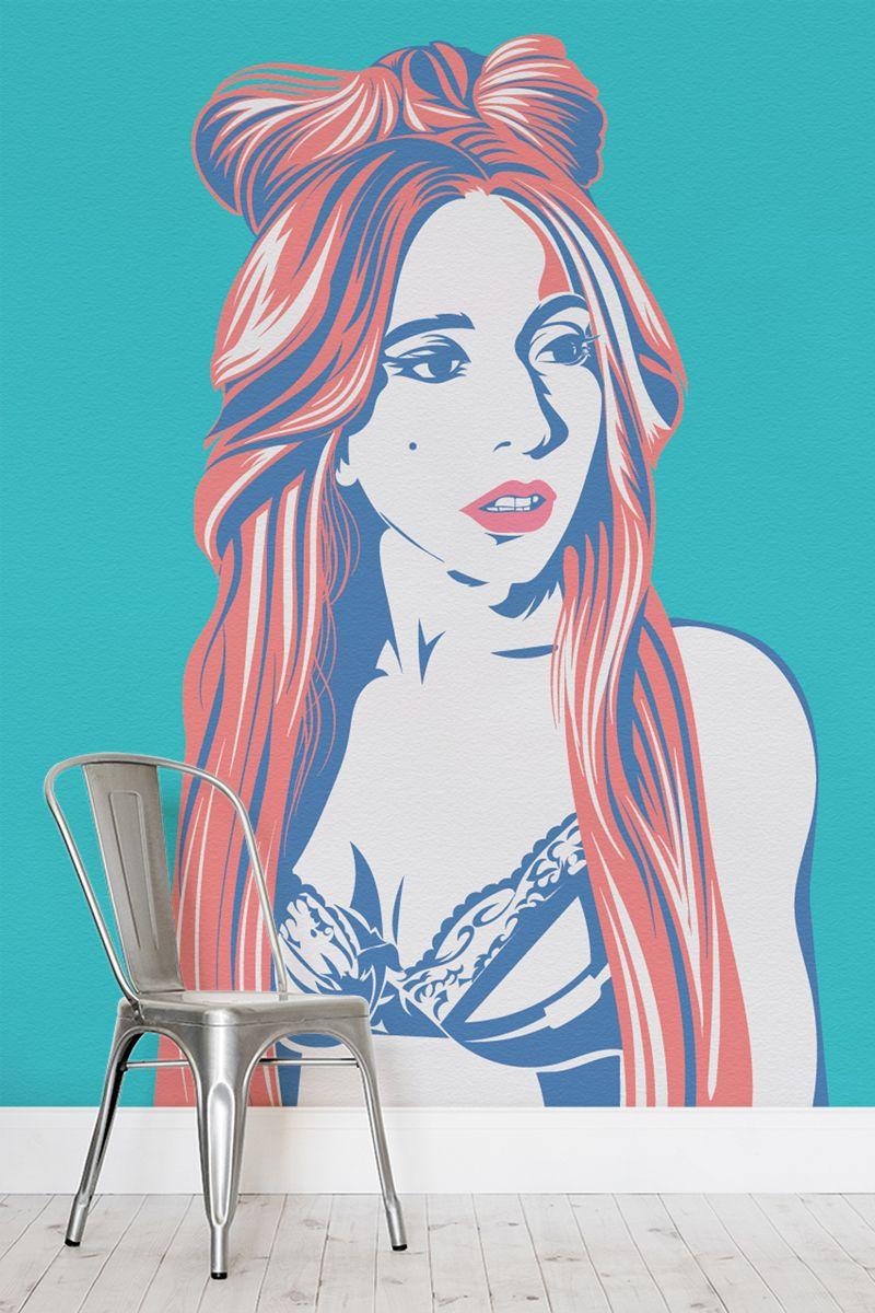 Lady Gaga Wallpaper Mural Pop Art Wallpaper Wallpaper