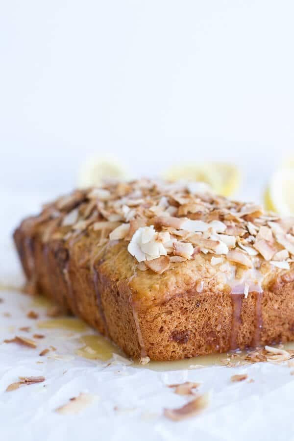 Toasted Coconut Lemon Bread with Salted Honey Butter