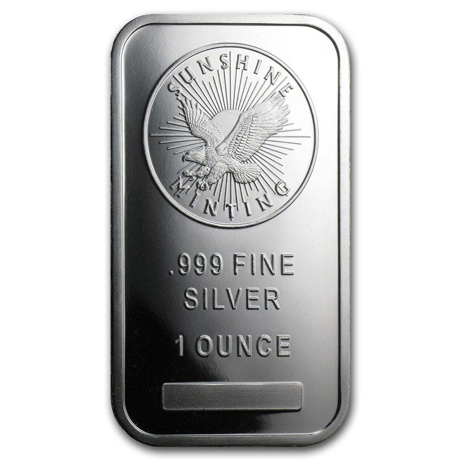 1 oz Silver Bar - Sunshine (MintMark SI) | Silver Bullion ...