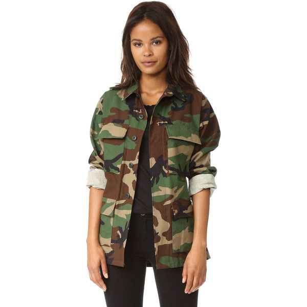 Jn By Jn Llovet Camo Jacket with Stars (€400) ❤ liked on Polyvore featuring outerwear, jackets, camouflage jacket, camouflage leather jacket, camo leather jacket, brown jacket and leather utility jacket
