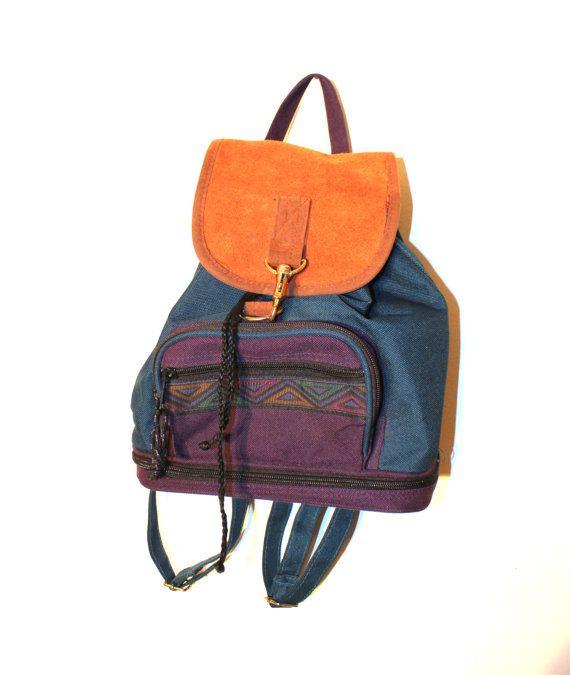 90s Jansport Style Mini Backpack - I had one like this. c6bee0b57b7ec
