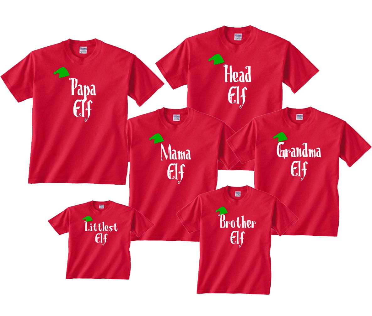 Personalized Family of Elves Matching Outfits - All Sizes for Whole ... 19bc2b417