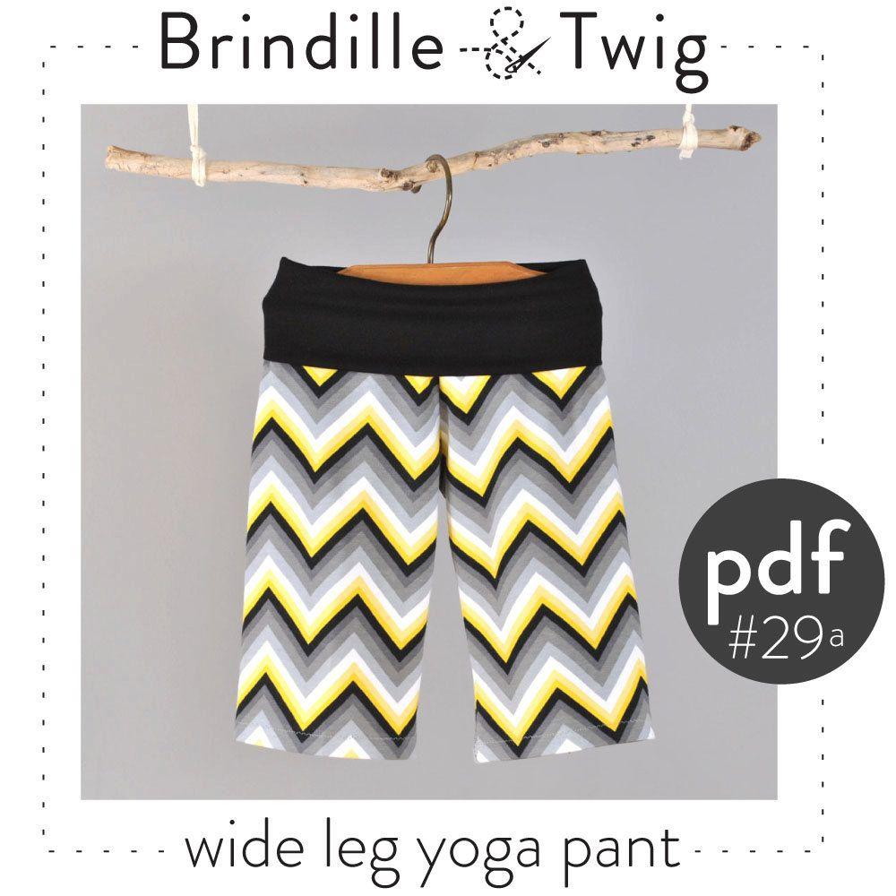 Baby hippie pants pattern wide leg yoga style door brindilleandtwig ...