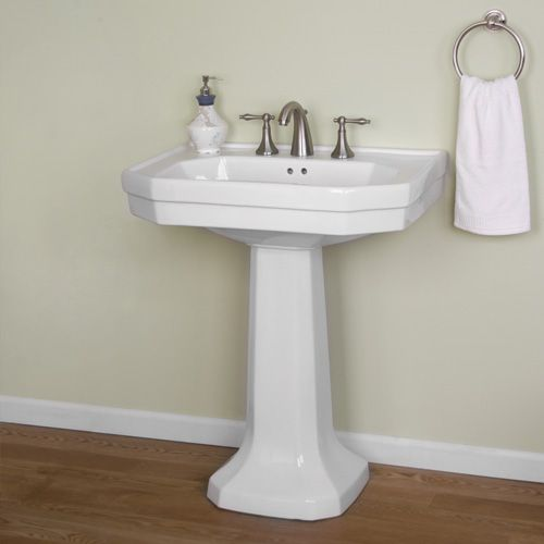 Chicago Pedestal Sink With 8 Inch Centers 239 95 Signature