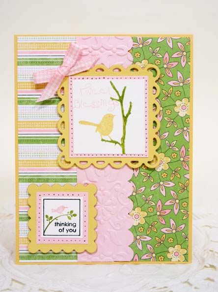 AUG10VSNM Birds On A Branch by sleepyinseattle - Cards and Paper Crafts at Splitcoaststampers