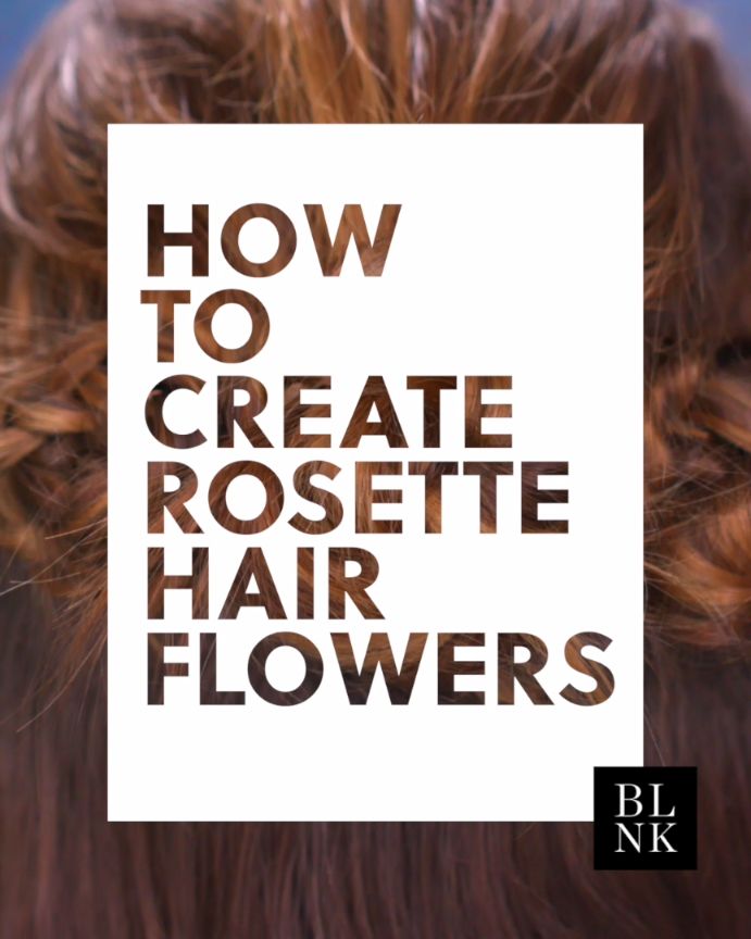 To Create Rosette Hair Flowers.