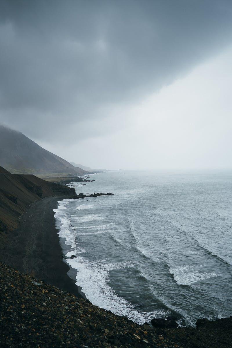 Cool Mountain Ocean Beach Landscape Photo Nature Photography