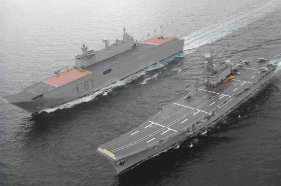 Spanish LHD, SPS Juan Carlos I, alongside the Spanish ...Spanish Aircraft Carrier Juan Carlos