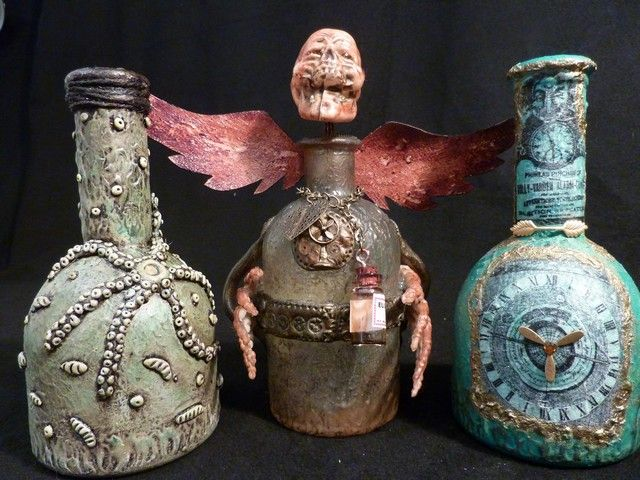 Mixed Media and more: Altered Bottles