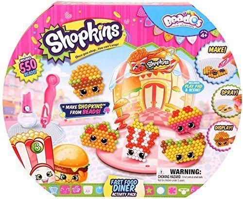Beados Shopkins Fast Food Diner Activity Pack