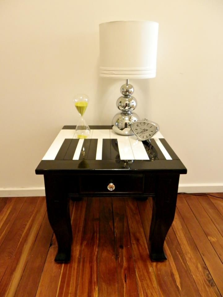 Image result for diy painted piano keys on end table
