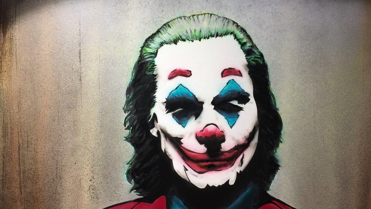 Joaquin phoenix joker stencil and airbrush painting youtube