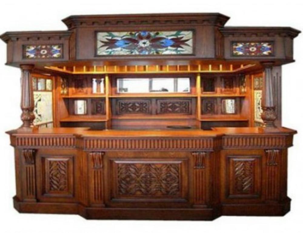Irish Fitzpatrick Mahogany Tavern Home Pub Bar Wine