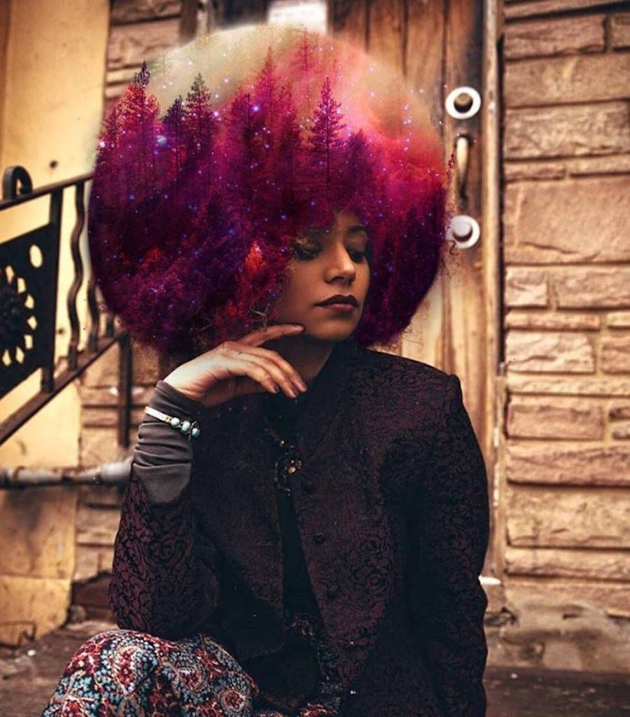 Cosmic and flowery afro hairstyles cosmic black girl magic and