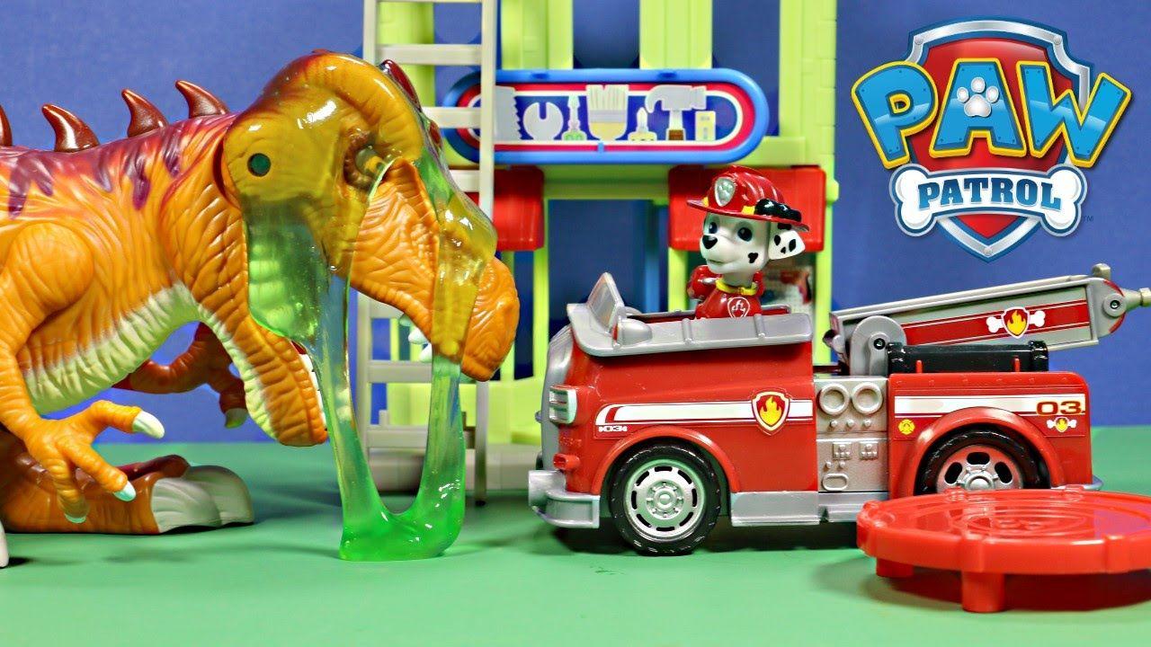 Quatang Gallery- New Nickelodeon Paw Patrol Marshalls Adventure Bay With T Rex Jurassic World Unboxing Wd Toys Marshall Paw Patrol Paw Patrol Paw Patrol Nickelodeon