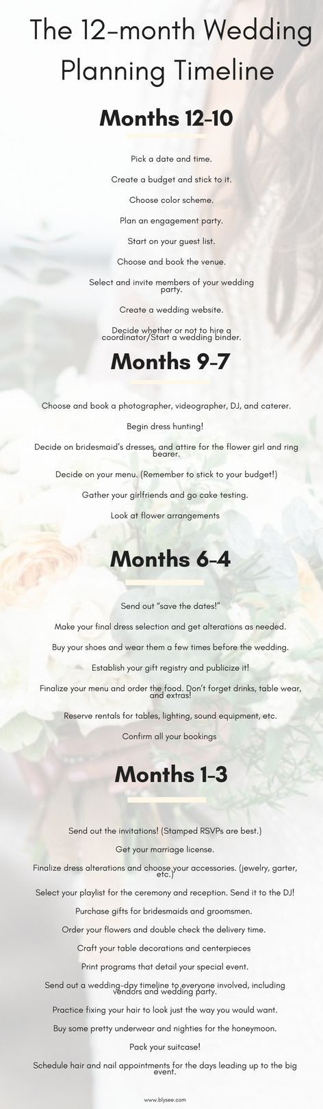 How to Plan Your Dream Wedding 12Month Wedding Planning Timeline