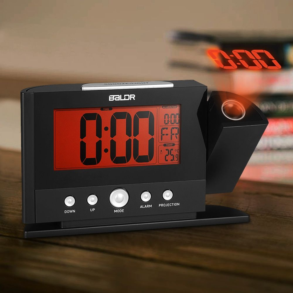 Projection Alarm Clock Wall Ceiling Display Weekday Temperature Orange Backlight Clocks Modern Time Watch Electronic Table Clock Projection Alarm Clock Alarm Clock Table Clock