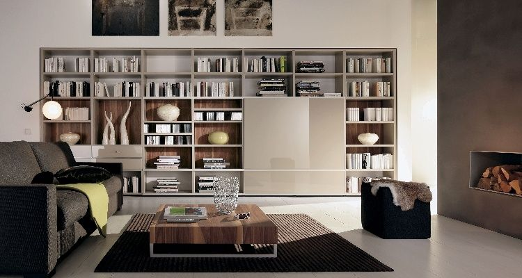 Contemporary Home Libraries | Kütüphane işleri | Pinterest ...