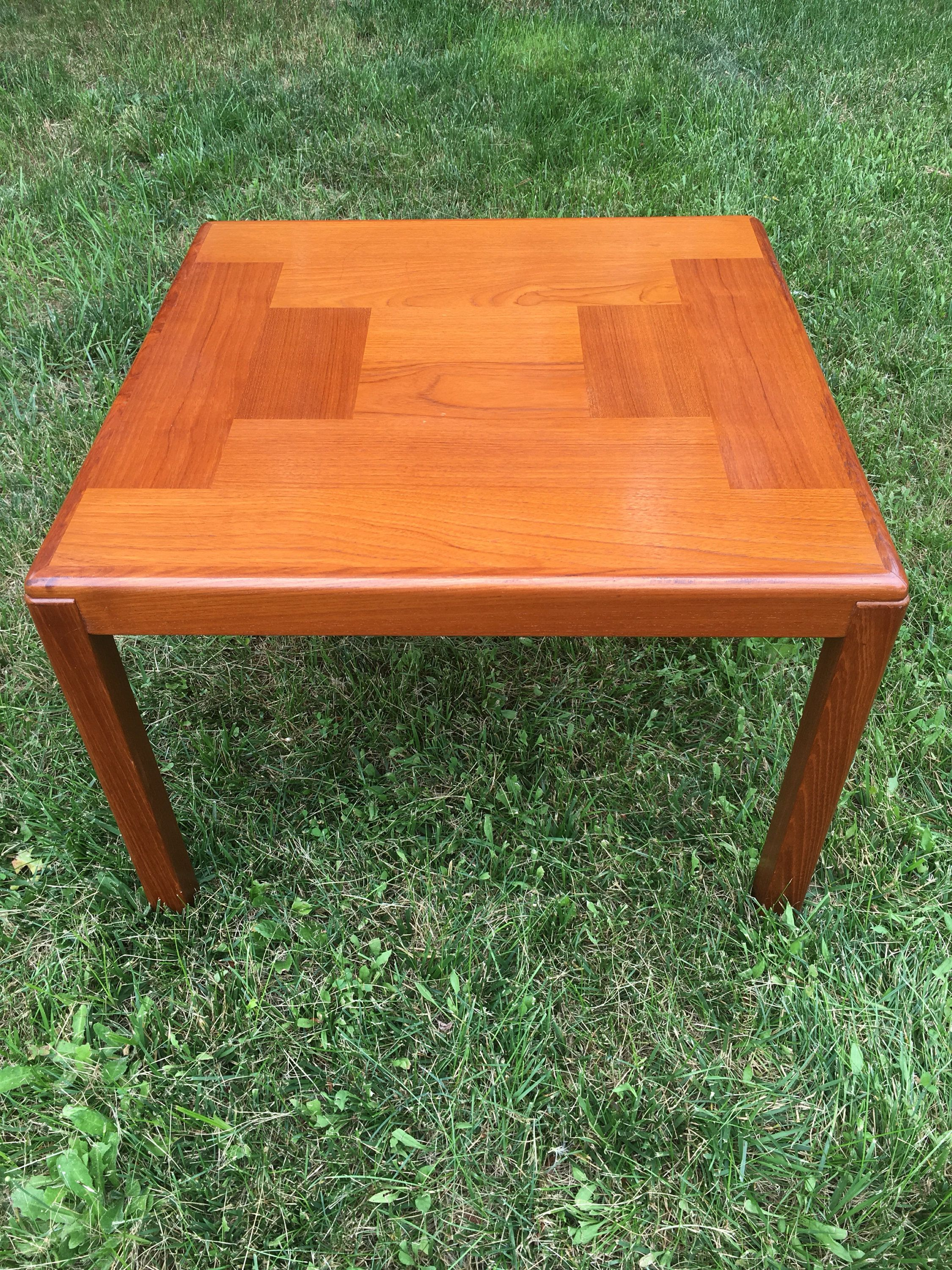 Mid century modern teak side table large danish modern teak side mid century modern teak side table large danish modern teak side table or small coffee table vejle stole made in denmark teak end table geotapseo Image collections