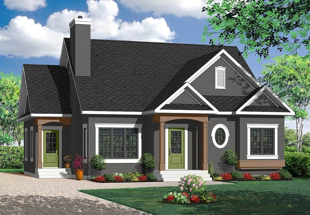 Plan 21775DR: Delightful Cottage House Plan | Country style house plans, Cottage  house plans, Cottage homes