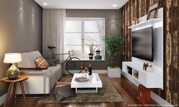 Rack Para Sala Pequena Moderno ~ sala pequena  Cozinhas  Pinterest  Salas pequenas, Apartamentos